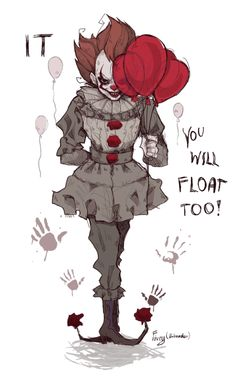 Pennywise the Dancing Clown! Scary Drawings, Art Drawings Sketches, Cute Drawings, Scary Movies, Horror Movies, Es Der Clown, Horror Drawing, Pennywise The Dancing Clown, Horror Artwork