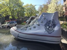 A personal favorite from my Etsy shop https://www.etsy.com/listing/235076732/size-8-custom-chucks
