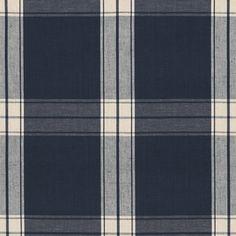 Granville Plaid - Navy - Plaids & Tartans - Fabric - Products - Ralph Lauren Home - RalphLaurenHome.com