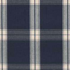 Granville Plaid - Navy - Plaids - Fabric - Products - Ralph Lauren Home - RalphLaurenHome.com