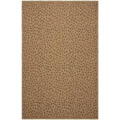 Indoor/ Outdoor Natural/ Leopard Print Rug (4' x 5'7) | Overstock.com Shopping - Great Deals on Safavieh 3x5 - 4x6 Rugs