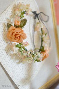 Vintage silk flower Tiara (DIY)