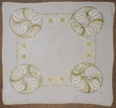 Beautiful Embroidery Worked at the Glasgow School of Art c. 1900