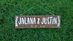Custom Name Sign, Pallet Name Wood Sign, Rustic Name Sign, Distressed Personalized Name Sign, Personalized Gift Wedding Date Sign, Wood Wedding Signs, Wedding Name, Wood Signs, Our Wedding, Custom Wooden Signs, Established Sign, Wedding Gifts For Couples, Bar Signs