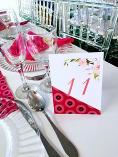 Pink Shweshwe Traditional Wedding decór - Table numbering EventsThis gorgeous forest wedding in Oregon features some breathtaking details!