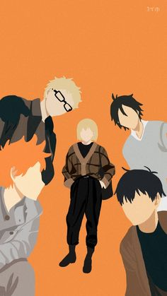Kageyama, Hinata, Tsukishima, Yamaguchi, Yachi
