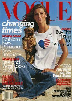 Gisele Bündchen Vogue, December 2001 Photographed by Steven Meisel