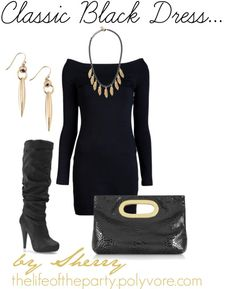 Classic Black Dress    hmm.. I can use this outfit with my black MK hand bag :)