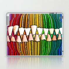 CRAYON LOVE:  Through The Lens Laptop & iPad Skin by Alice Gosling - $25.00 Available as iPad Mini, iPad 2nd, 3rd, 4th Gen. #ipad #crayons #pencils #color #colour #art #rainbow