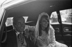 Richard Gregson & Natalie Wood on their wedding day, 1969
