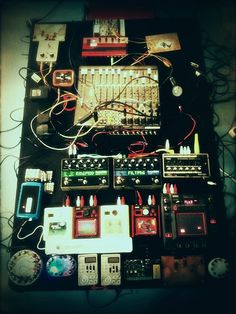 Cool setup of bits and pieces!    Dirty Carter event at STEIM by Chris_Carter_, via Flickr