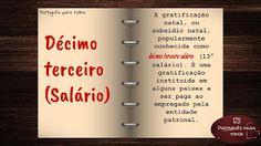 Português para todos: Décimo terceiro salário