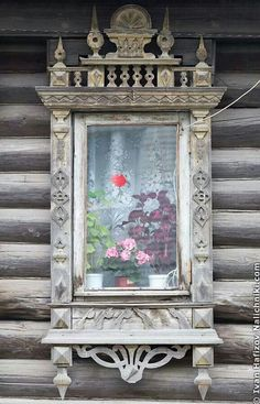 Russian Windows. Wooden Architecture