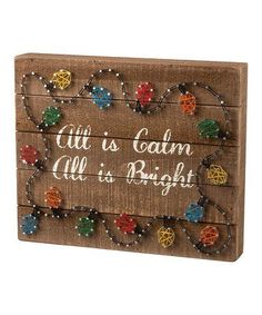 Love this 'All is Bright' String Art Wall Décor on #zulily! #zulilyfinds