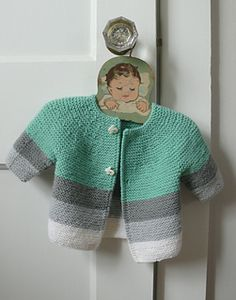 Baby Knitting Patterns Neutral No pattern yet, but the color combo is nice Knitting For Kids, Crochet For Kids, Baby Knitting Patterns, Baby Patterns, Crochet Baby, Crochet Patterns, Girls Sweaters, Baby Sweaters, Cardigans