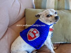 Posh Pooch Designs Dog Clothes: Super Hero Dog Cape Free Crochet Pattern | Posh Pooch Designs