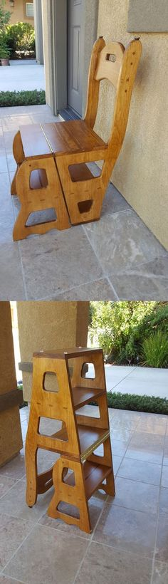 Check out this awesome customer project! This convertible step stool and chair plan allows you to build not only one piece of furniture but two! #woodworking