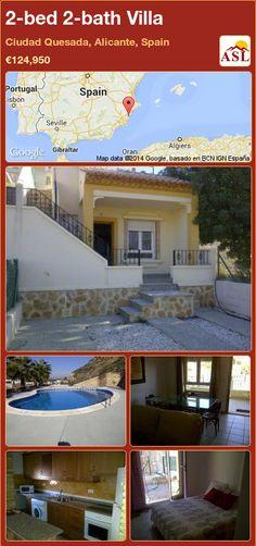 2-bed 2-bath Villa in Ciudad Quesada, Alicante, Spain ►€124,950 #PropertyForSaleInSpain