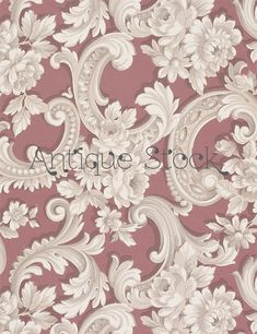 Creme Painted Molding Sidewall - White Ornament - Digital Collage Sheet 1890-1910
