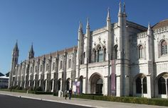 The Monastery of Jerónimos is a monument which represents the Portuguese discoveries, located in Lisbon, more precisely in Belém, and it has a magnificent view over the Tagus River.