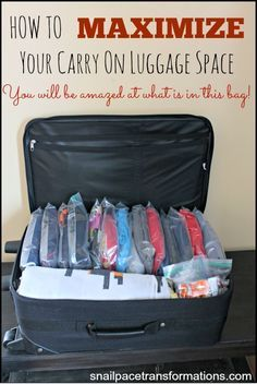 How To Maximize Carry On Luggage E