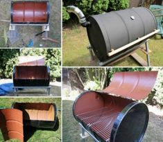 How to Build Your Own BBQ Barrel building backyard diy bbq craft crafts reuse build diy ideas diy crafts summer crafts how to recycle home ideas tutorials repurpose crafts for guys How To Make Metal, How To Make Bbq, Oil Drum Bbq, Barrel Grill, Barrel Stove, Bbq Rotisserie, Recycled House, Barbecue Pit, Diy Grill