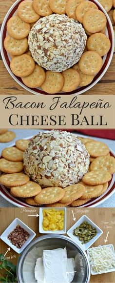 This Cheese Ball has it all - bacon, jalapenos, pineapple, and pepper jack cheese. So easy to make too. #StackItUp #Ad
