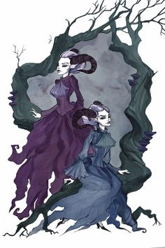 Horned Twins by IrenHorrors on DeviantArt