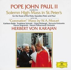 POPE JOHN PAUL II celebrates Solemn High Mass