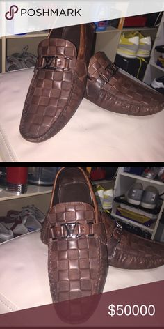 LOUIS VOUITON SIZE 9 MENS LOAFERS DRIVING SIZE 9. GOOD CONDITION Louis Vuitton Shoes Loafers & Slip-Ons