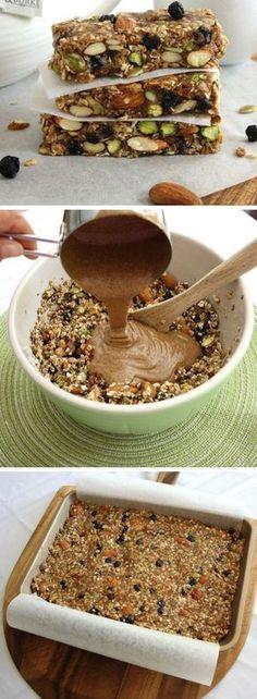 Blueberry Bliss Breakfast Bars | Click Pic for 20 Easy Paleo Breakfast Ideas for Kids | Easy Healthy Breakfast Recipes on the Go