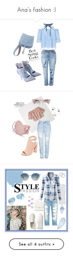 """Ana's fashion :)"" by anifairy on Polyvore featuring Steve Madden, H&M, Charlotte Russe, Puma, Abercrombie & Fitch, Topshop, Kendall + Kylie, Jimmy Choo, LE3NO and Gap"