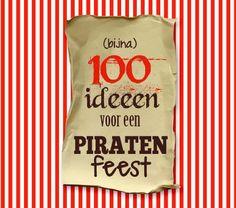 Piratenfeest: een overvloed aan ideeën om een piratenfeestje thuis te organiseren! Over aankleding en traktaties, spelletjes, knutselen en een piratenlied!