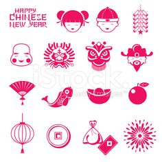 Chinese Icon, Chinese Element, Chinese Symbols, Chinese Art, Chinese New Year Crafts For Kids, Chinese New Year Decorations, New Year Diy, Chinese New Year Poster, Chinese Paper Cutting