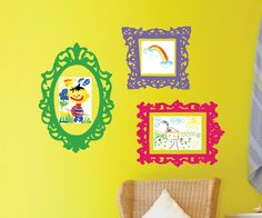 Wall Decal  Frames - Playroom Wall Art - Nursery Wall Decals - Playroom Decor. $30.00, via Etsy.