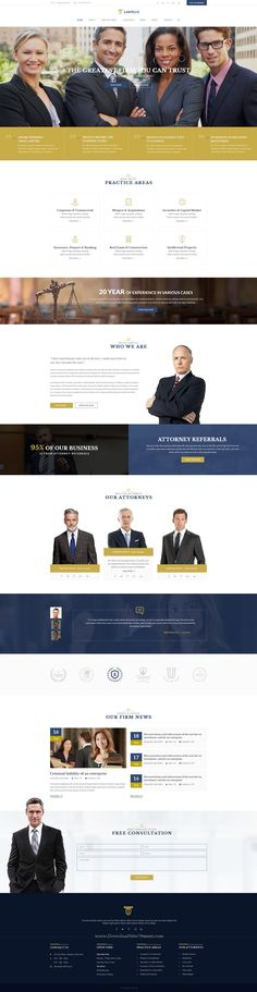 18 best lawyer site images on Pinterest | Lawyer website, Website ...