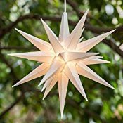 21″ White Moravian Star – Perfect Big Christmas Light for Outdoor Christmas Decorations, and Christmas Porch Light