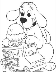 curious george coloring pages | Printable Coloring Pages: Clifford Coloring Page