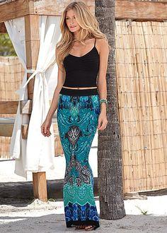 Seamless cami, print skirt by VENUS