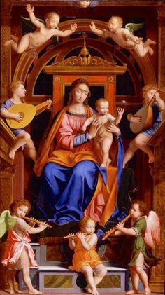 La virgen María y El Niño Jesús .