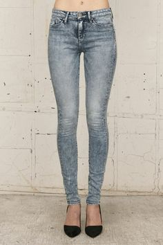 DOSE hi rise skinny jeans by thvm. via The Cools