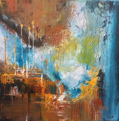 ARTFINDER: Night and Day,  ,  28x28 inches / 70x... by Mo Tuncay - please let me know What you think About this painting ! Acrylic Amsterdam expert paint used , also paint thickness used for texture  Signed on the front , ...