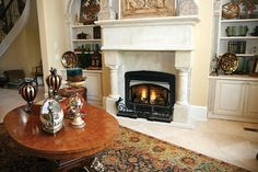 Traditional Living Room Photo by Monessen Hearth - Homeclick Community Fireplace Tools, Home Fireplace, Traditional Fireplace, Traditional House, Wood Burning Insert, Living Room Photos, Fire Glass, Hearth, Old Houses