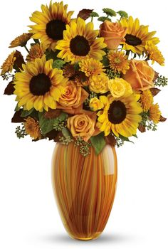 For the one who loves sunflowers, this is the perfect bouquet! Teleflora's Golden Sunset Bouquet