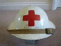 Korean war medic/nurse military helmet 1954