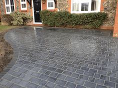 A Block Paved Driveway makes a beautiful entrance to your home, and adds value to your property. Create your bespoke driveway & request FREE Samples! Front Garden Ideas Driveway, Driveway Design, Driveway Landscaping, Block Paving Driveway, Stone Driveway, Grass Pavers, Asphalt Driveway, Home Repairs, Cool Landscapes