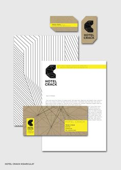 Hotel Crack #Branding Identity & #Stationery Design