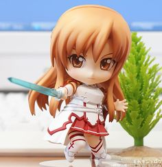 Nendoroid Asuna   From: Sword Art Online  Manufacturer: Good Smile  Release Date: March, 2013  Pre-Order at play-asia.com #Nendroid #AsunaYuuki #SwordArtOnline