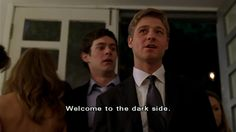 Welcome to the dark side. Welcome to the OC. Best Tv Shows, Favorite Tv Shows, Movies And Tv Shows, The Oc Tv Show, Teen Shows, Best Dramas, Tv Times, Tv Quotes, Fight Club