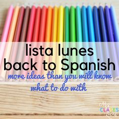 Lista lunes - Back to Spanish class 2017 - shared by Mis Clases Locas High School Spanish, Elementary Spanish, Spanish Teacher, Spanish Classroom, Classroom Ideas, Spanish Lesson Plans, Spanish Lessons, Learn Spanish, Spanish 1